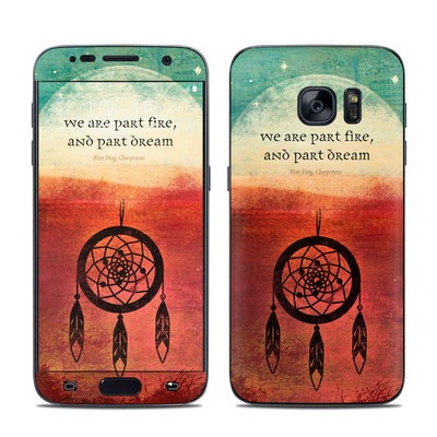 Samsung Galaxy S7 Skin - Part Fire