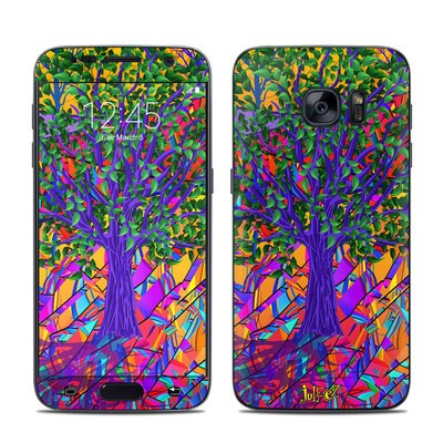 Samsung Galaxy S7 Skin - Stained Glass Tree