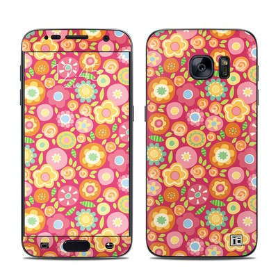 Samsung Galaxy S7 Skin - Flowers Squished