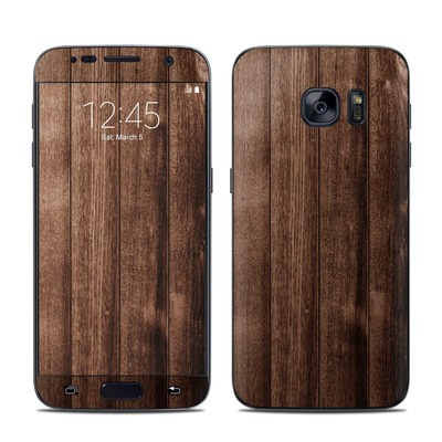 Samsung Galaxy S7 Skin - Stained Wood