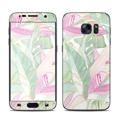 Samsung Galaxy S7 Skin - Tropical Leaves