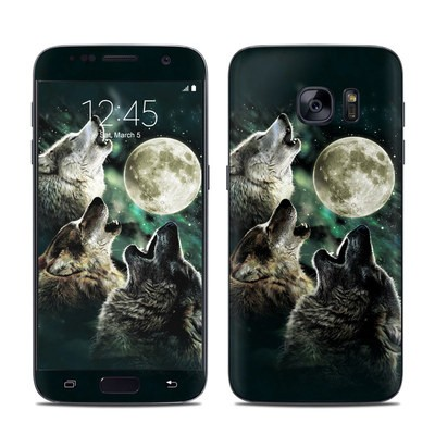 Samsung Galaxy S7 Skin - Three Wolf Moon