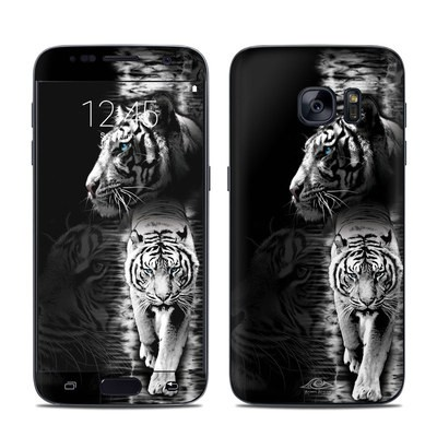 Samsung Galaxy S7 Skin - White Tiger