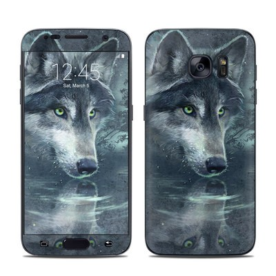 Samsung Galaxy S7 Skin - Wolf Reflection
