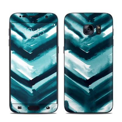 Samsung Galaxy S7 Skin - Watercolor Chevron
