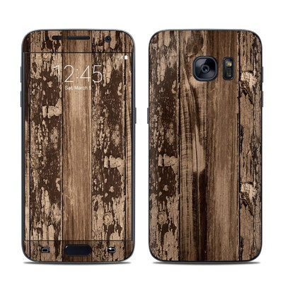 Samsung Galaxy S7 Skin - Weathered Wood