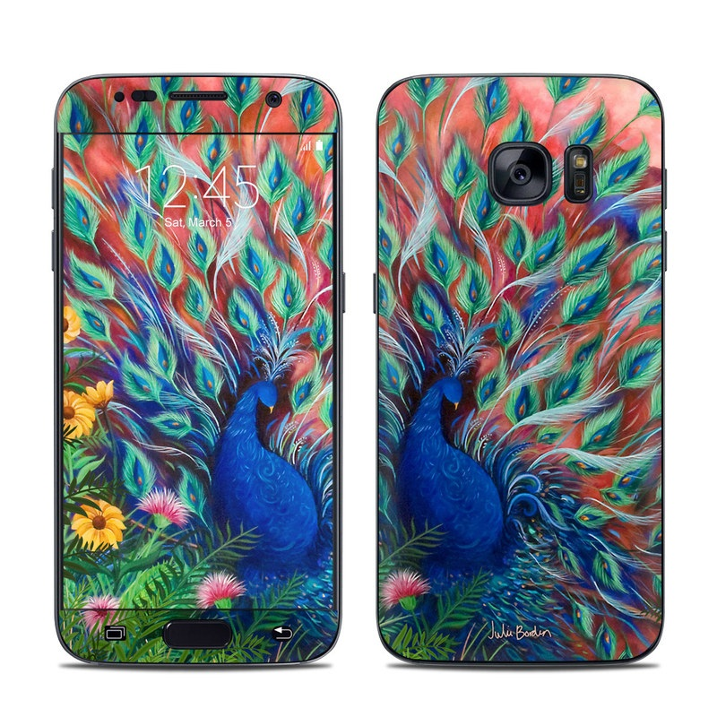 Samsung Galaxy S7 Skin - Coral Peacock By Juleez