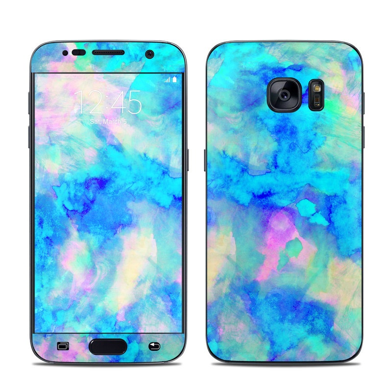 Samsung Galaxy S7 Skin Electrify Ice Blue By Amy Sia