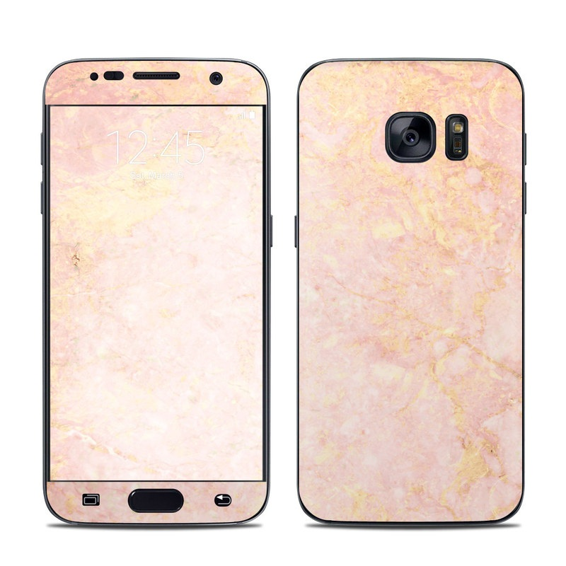samsung galaxy s7 skin rose gold marble by marble collection decalgirl. Black Bedroom Furniture Sets. Home Design Ideas