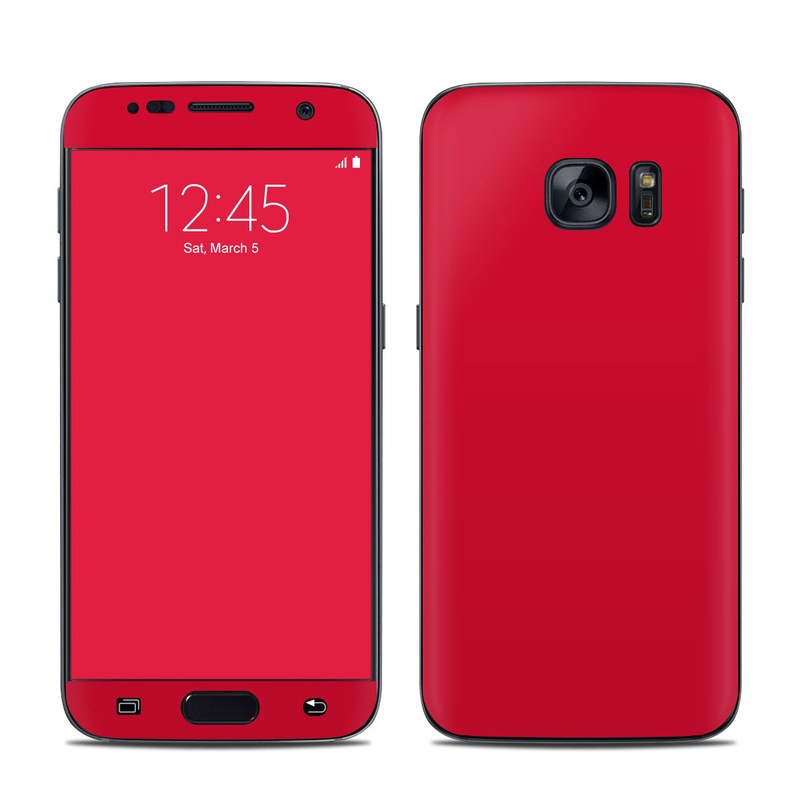 newest 2c3b0 88b31 Samsung Galaxy S7 Skin - Solid State Red
