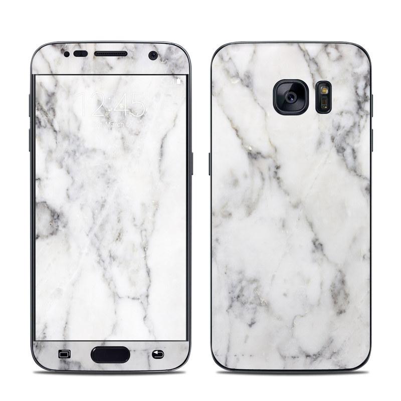 buy online cddfa a4951 Samsung Galaxy S7 Skin - White Marble