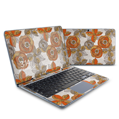 Samsung ATIV Smart PC 500T Skin - Orange and Grey Flowers