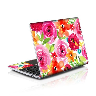 Samsung Series 5 550 Chromebook Skins Skin - Floral Pop
