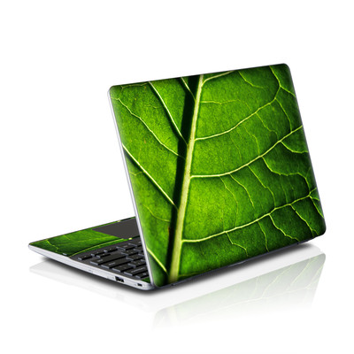 Samsung Series 5 550 Chromebook Skins Skin - Green Leaf
