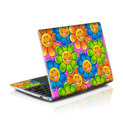Samsung Series 5 550 Chromebook Skins Skin - Happy Daisies