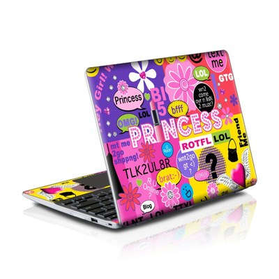 Samsung Series 5 550 Chromebook Skins Skin - Princess Text Me