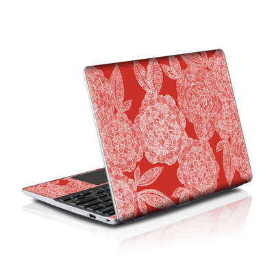 Samsung Series 5 550 Chromebook Skins Skin - Red Dahlias
