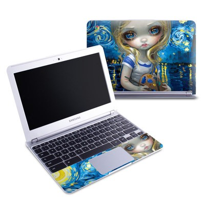Samsung 11-6 Chromebook Skin - Alice in a Van Gogh