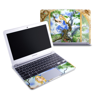 Samsung 11-6 Chromebook Skin - Alice's Tea Time