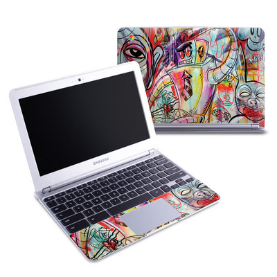 Samsung 11-6 Chromebook Skin - Battery Acid Meltdown