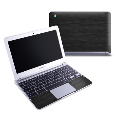 Samsung 11-6 Chromebook Skin - Black Woodgrain