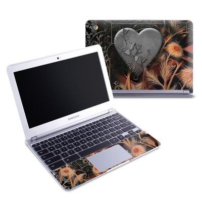 Samsung 11-6 Chromebook Skin - Black Lace Flower