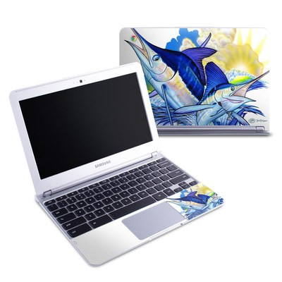 Samsung 11-6 Chromebook Skin - Blue White and Yellow