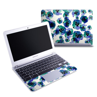 Samsung 11-6 Chromebook Skin - Blue Eye Flowers