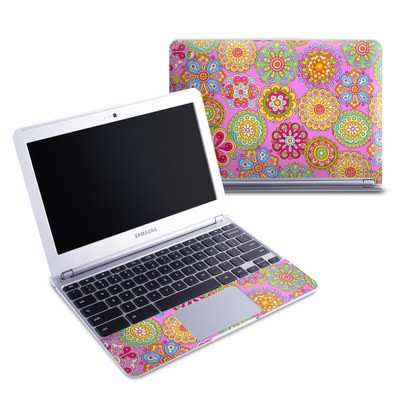 Samsung 11-6 Chromebook Skin - Bright Flowers