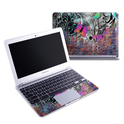 Samsung 11-6 Chromebook Skin - Butterfly Wall