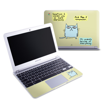 Samsung 11-6 Chromebook Skin - Catwad Hate