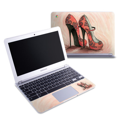 Samsung 11-6 Chromebook Skin - Coral Shoes