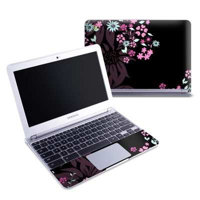 Samsung 11-6 Chromebook Skin - Dark Flowers