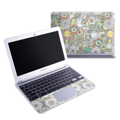 Samsung 11-6 Chromebook Skin - Faded Floral