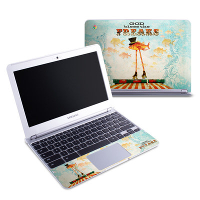 Samsung 11-6 Chromebook Skin - God Bless The Freaks