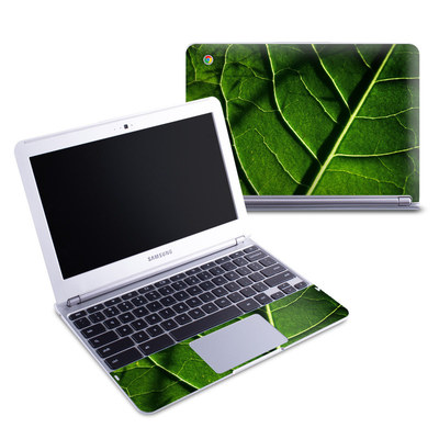 Samsung 11-6 Chromebook Skin - Green Leaf