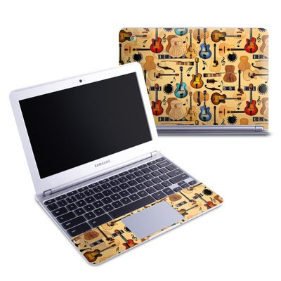 Samsung 11-6 Chromebook Skin - Guitar Collage