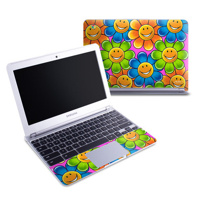 Samsung 11-6 Chromebook Skin - Happy Daisies