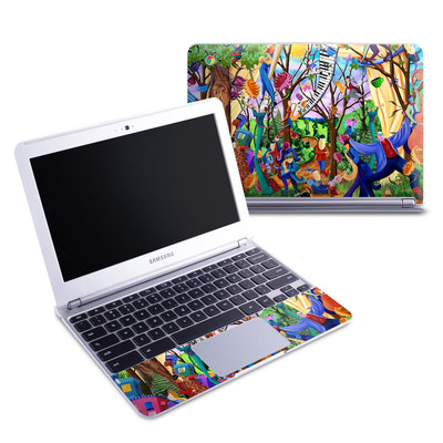 Samsung 11-6 Chromebook Skin - Happy Town Celebration