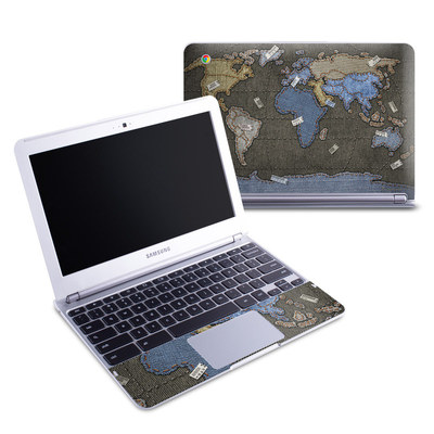 Samsung 11-6 Chromebook Skin - Jean Map