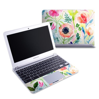 Samsung 11-6 Chromebook Skin - Loose Flowers