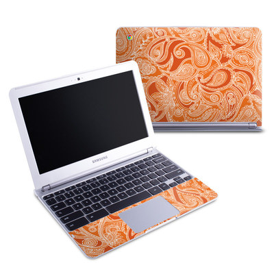 Samsung 11-6 Chromebook Skin - Paisley In Orange