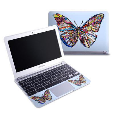 Samsung 11-6 Chromebook Skin - Pieced Butterfly