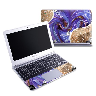 Samsung 11-6 Chromebook Skin - Purple Waves