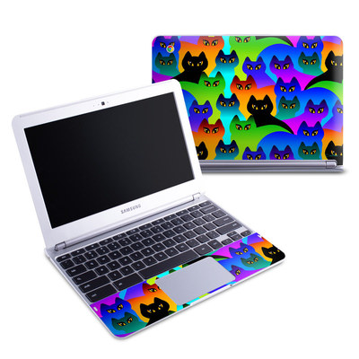 Samsung 11-6 Chromebook Skin - Rainbow Cats