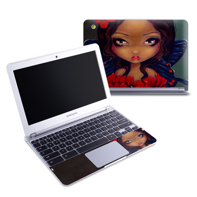 Samsung 11-6 Chromebook Skin - Red Hibiscus Fairy