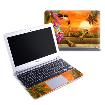 Samsung 11-6 Chromebook Skin - Sunset Flamingo