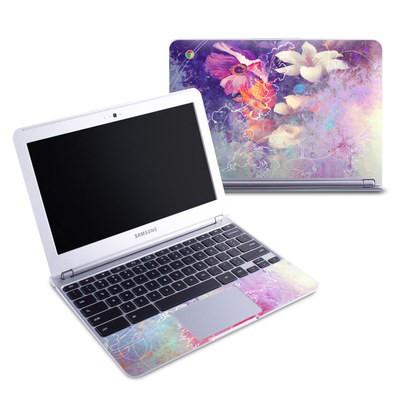 Samsung 11-6 Chromebook Skin - Sketch Flowers Lily