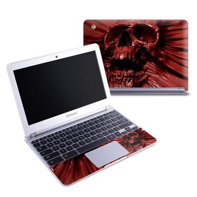 Samsung 11-6 Chromebook Skin - Skull Blood