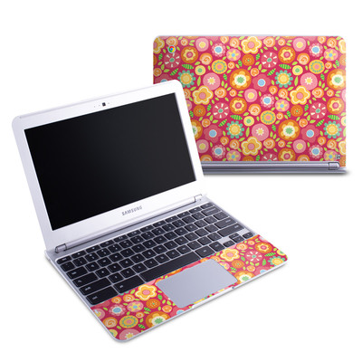 Samsung 11-6 Chromebook Skin - Flowers Squished